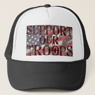 support our troops copy trucker hat