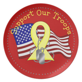 Support Our Troops Dinner Plate