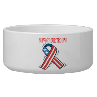 Support Our Troops Dog Bowls