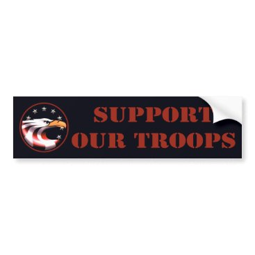 Support Our Troops (Eagle) Bumper Sticker