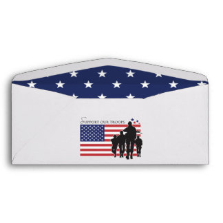 Support our troops envelope