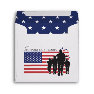 Support our troops envelopes