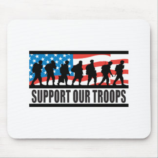 Support Our Troops Flag Design Mouse Mat