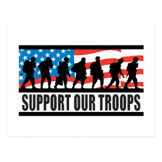 Support Our Troops Flag Design Postcard