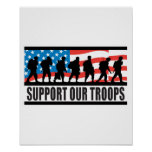 Support Our Troops Flag Design Poster