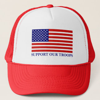 Support Our Troops Flag Mesh Hat