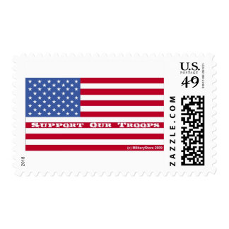 Support Our Troops Flag Stamp