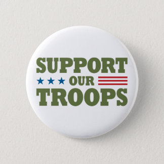 Support Our Troops - Green Button