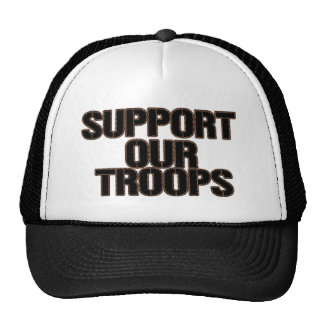 Support Our Troops Hat- Cheetah Print Trucker Hat