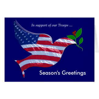 Support our Troops Holiday Card