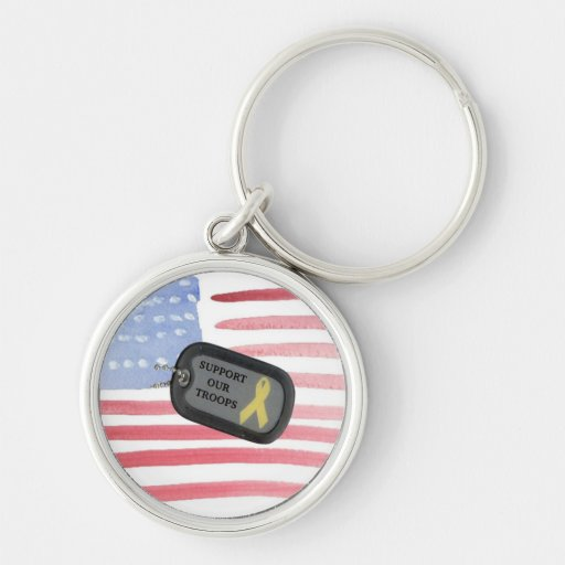 Support Our Troops Key Chains