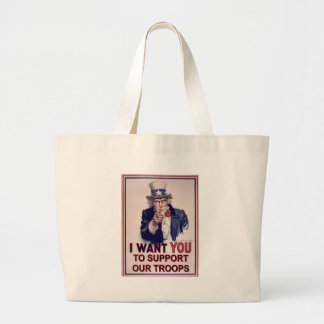 Support Our Troops Large Tote Bag