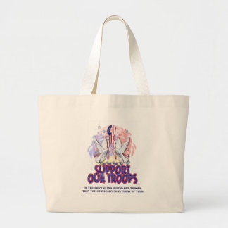 Support Our Troops! Large Tote Bag
