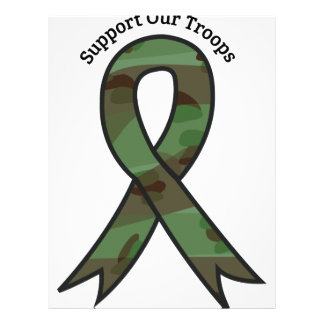 Support Our Troops Letterhead