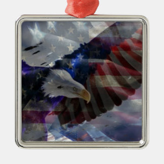 Support Our Troops Metal Ornament