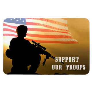Support Our Troops. Military Gift Magnets