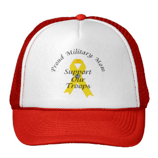 Support Our Troops Military Mom 2 (Yellow Ribbon) Trucker Hat