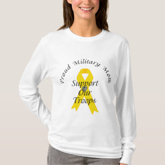 Support Our Troops Military Mom 2 (Yellow Ribbon) T-Shirt