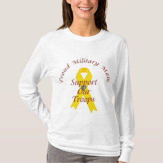 Support Our Troops Military Mom (Yellow Ribbon) T-Shirt