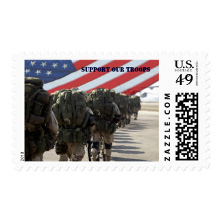 Support Our Troops. Military Postage Stamps