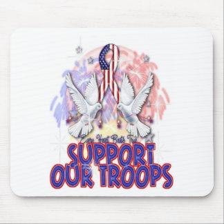"""""""Support Our Troops"""" Mousepad"""