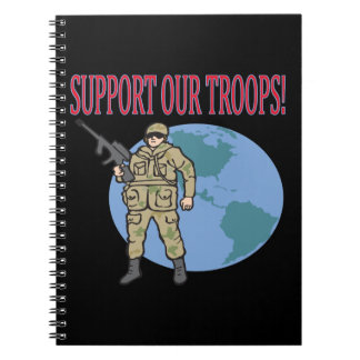Support Our Troops Spiral Notebook
