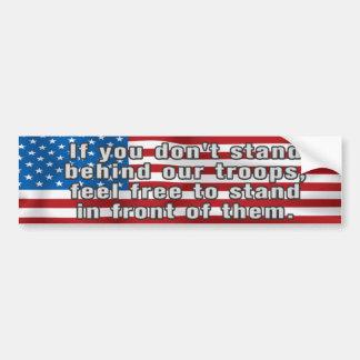 Support Our Troops Patriotic Bumper Sticker Car Bumper Sticker