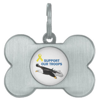 Support Our Troops Pet ID Tag