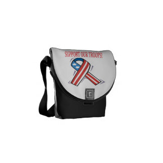 Support Our Troops.png Messenger Bag