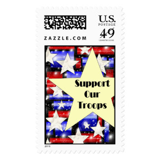 Support Our Troops Postage Stamps