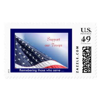 Support our Troops - Postage Stamp