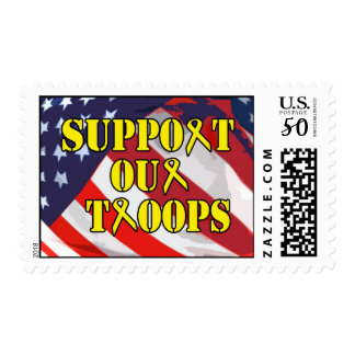 Support Our Troops Postage Stamp
