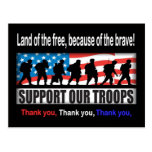 Support Our Troops Postcard at Zazzle