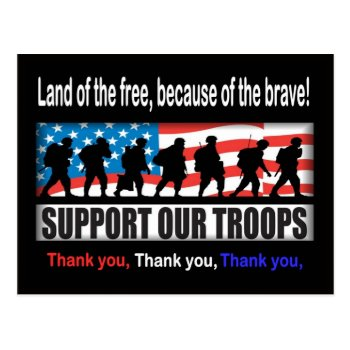 Support Our Troops Postcard by 4westies at Zazzle