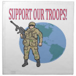 Support Our Troops Printed Napkins