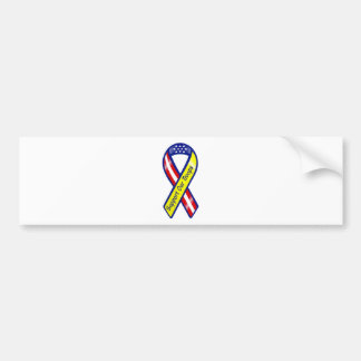 Support Our Troops Ribbon Bumper Sticker