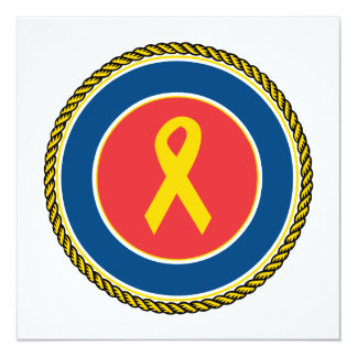 Support Our Troops Ribbon Card