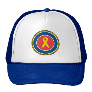 Support Our Troops Ribbon Trucker Hats