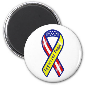 Support Our Troops Ribbon Fridge Magnets