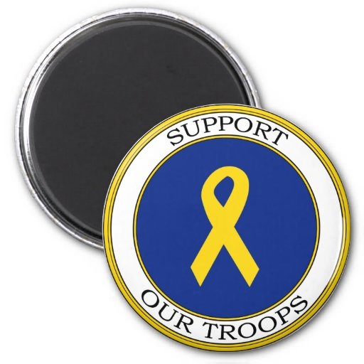 Support Our Troops Ribbon Magnet