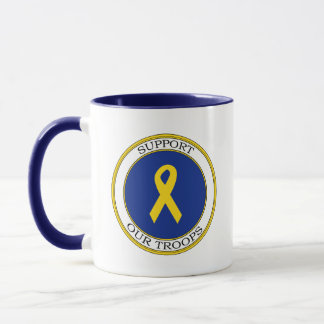 Support Our Troops Ribbon Mug