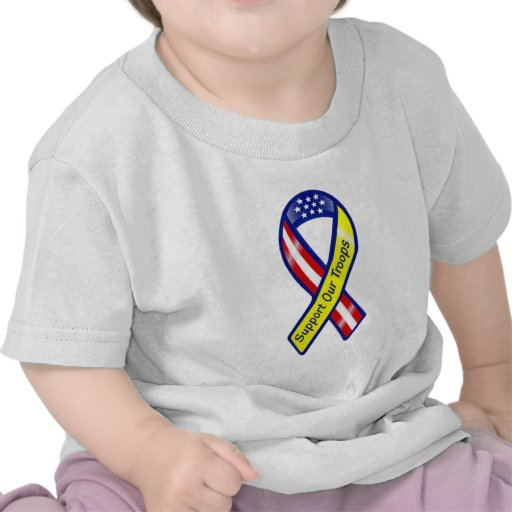 Support Our Troops Ribbon Shirts