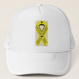 SUPPORT OUR TROOPS RIBBON TRUCKER HAT