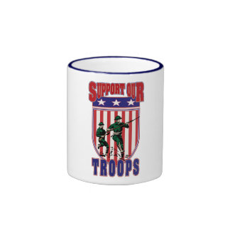 Support Our Troops Ringer Coffee Mug