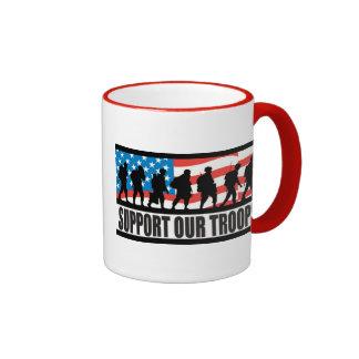 Support Our Troops Ringer Mug