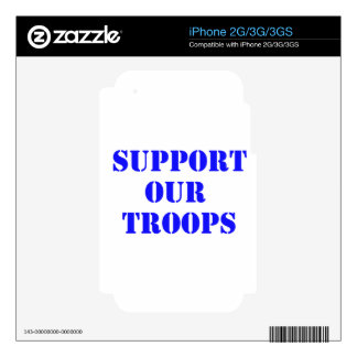 support our troops iPhone 3GS skins