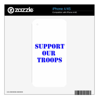 support our troops skins for the iPhone 4S