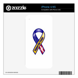 Support-Our-Troops Decal For iPhone 4