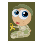 Support Our Troops Soldier Baby Poster