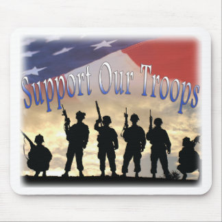 Support Our Troops Soldiers Mouse Pad